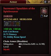 Sacrosanct Spaulders of the Spiritweaver