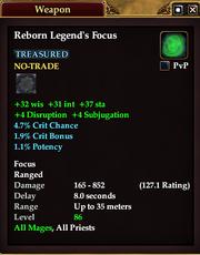 Reborn Legend's Focus