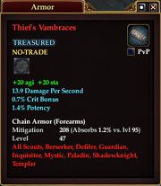 Thief's Vambraces