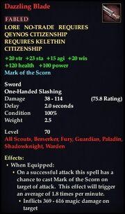 Dazzling Blade