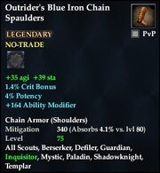 Outrider's Blue Iron Chain Spaulders