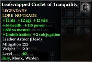 Leafwrapped Circlet of Tranquility