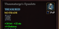 Thaumaturge's Epaulets