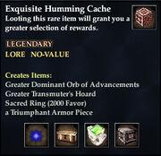 Exquisite Humming Cache