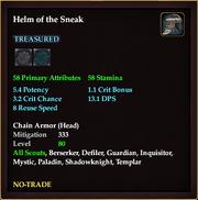 Helm of the Sneak