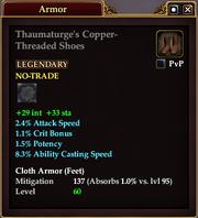 Thaumaturge's Copper-Threaded Shoes