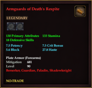 Armguards of Death's Respite