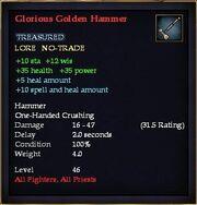 Glorious Golden Hammer