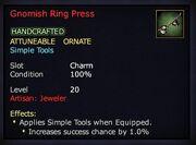 Gnomish Ring Press