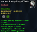 Ancient Scourge Ring of Tactics