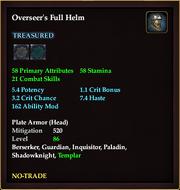 Overseer's Full Helm
