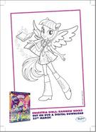 Twilight Sparkle Rainbow Rocks coloring page