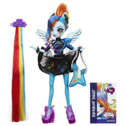 Rainbow Rocks Rainbow Dash Rockin' Hairstyle doll