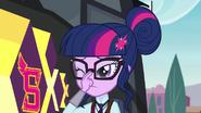 Twilight straightens her glasses again EG3