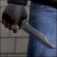 Niko Bellic con un cuchillo
