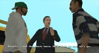 Toreno hablando con Carl y T-bone Mendez