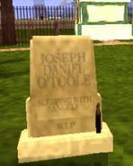J.D O'Toole lápida