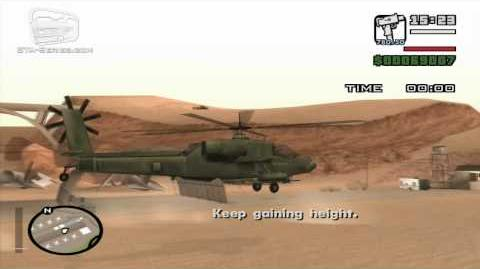GTA San Andreas - Pilot School 5 - Helicopter Takeoff (HD)