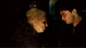 P7 Harry y Bathilda en el valle de Godric en 1997.jpg