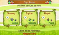 Pokémon salvajes en el Cayo Recreo SL