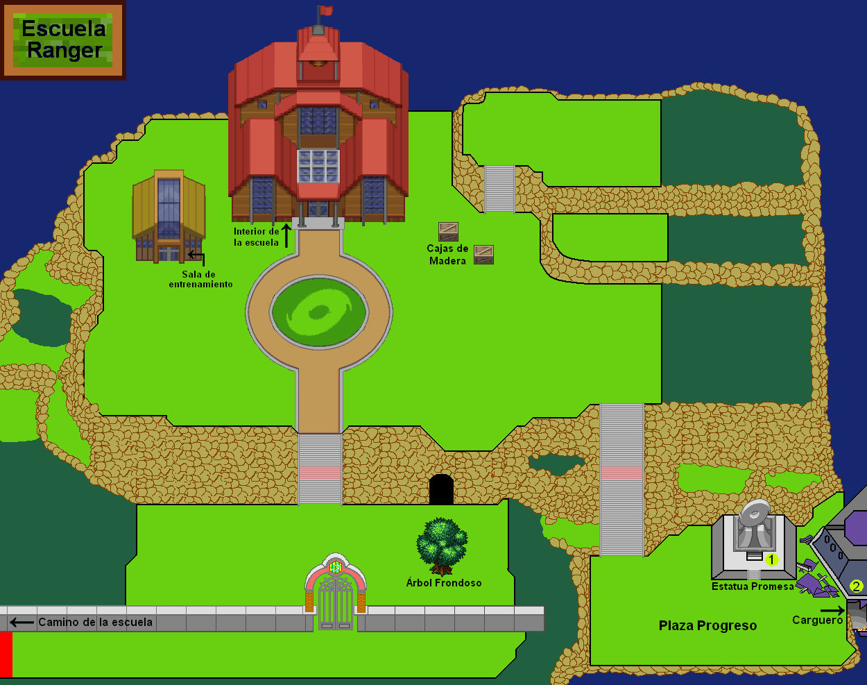 Plano exterior de la Escuela Ranger.