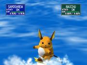 Raichu usando Surf en Pokémon Stadium.png
