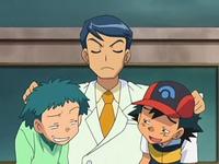 EP557 Yuzo regañando a Ash y Angie