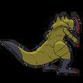 Imagen posterior de Haxorus en la sexta generación