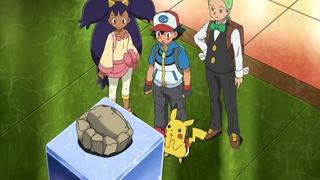 Archivo:EP674 Protagonistas junto a un fosil.jpg