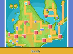 Mapa de Sinnoh en Platino