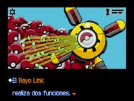 Rayo Link escaneando Poké Balls