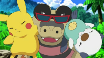 Archivo:EP663 Sandile mordiendo a Pikachu y a Oshawott.jpg