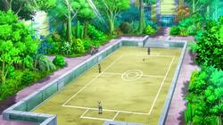 Campo de batalla del Gimnasio de Novarte en el anime