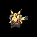 Imagen de Pikachu roquera en Pokémon Rubí Omega y Pokémon Zafiro Alfa