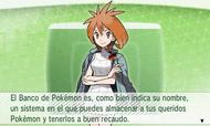 Nereida explicando el uso del Banco de Pokémon