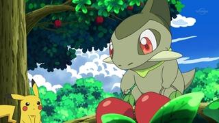 Archivo:EP669 Kibago y Pikachu recolectando manzanas.jpg