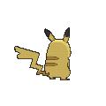 Imagen posterior de Pikachu hembra en la sexta generación