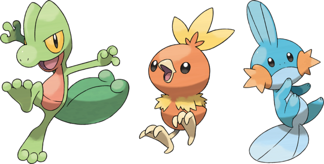 Archivo:Pokemon iniciales de Hoenn.png