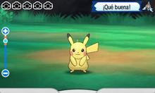 Fotografiando un Pikachu con el Pokévisor