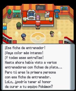 Primera vez con ficha dorada en un centro Pokémon (DP).png