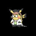 Imagen de Pikachu erudita en Pokémon Rubí Omega y Pokémon Zafiro Alfa