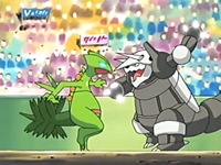 Archivo:EP405 Aggron contra Sceptile.png