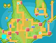 Lago Veraz mapa