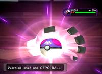 Poké Cepo preparando una Cepo Ball