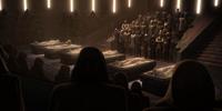 Funeral de las víctimas del atentado del Templo Jedi