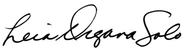 Archivo:Leia Organa Solo signature.png