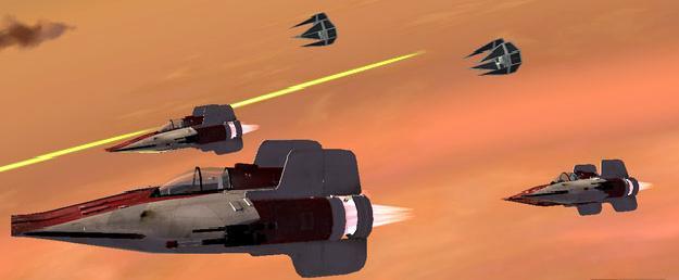 Archivo:A-Ving's vs TIE Interceptor's.jpg