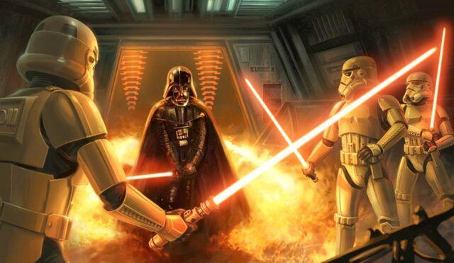 Archivo:Stormtrooper Saber art.jpg