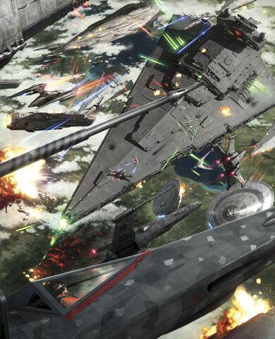 Archivo:Battle of Kashyyyk by Darren Tan.jpg