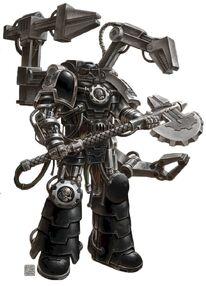 Guardianes de la Muerte Señor de la Forja Xerrill Padre de Hierro de los Manos de Hierro Ordo Xenos Wikihammer